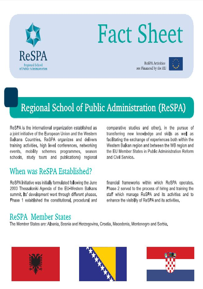 ReSPA in General Fact Sheet