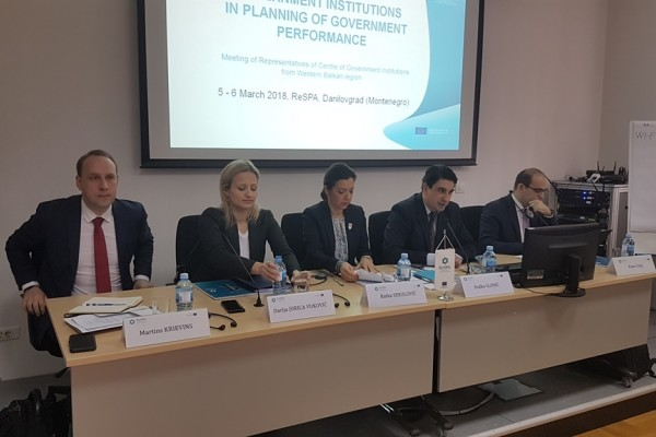 Role of Centre of Government Institutions in Planning of Government Performance- Meeting of Representatives of Centre of Government Institutions from Western Balkan region