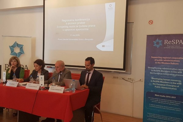 Regional Conference on the Case-Law of the European Court of Human Rights Applicable in Administrative Disputes