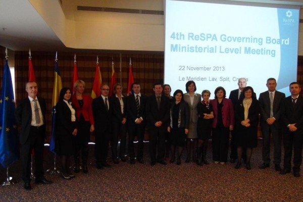 Ministers and other high authorities of the Western Balkans discussed ReSPA development at the 4th ReSPA Governing Board Ministerial Level Meeting in Split, on 22 November 2013