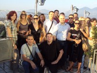 The group visiting Durres